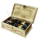 Dřevěná dárková truhlice na víno opalovaná 2 x 0.75 l