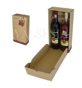 Dárkový kartonový obal na víno 2 x 0,75 s logem Mrva & Stanko