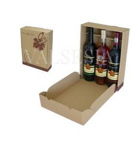 Dárkový kartonový obal na víno 3 x 0,75 s logem Mrva & Stanko