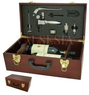 Exkluzivní dárkový kufřík na dvě vína s vývrtkou DELUXE a příslušenstvím