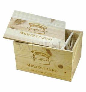 Dárkový obal - dřevěná bedna Mrva & Stanko Exclusive 6 x 0.75l
