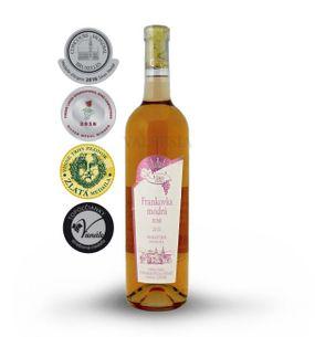 Frankovka rosé 2015, pozdní sběr, polosladké, 0,75 l