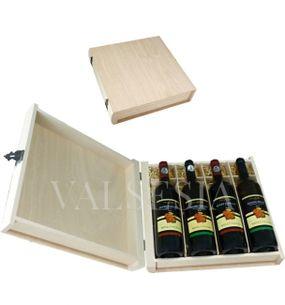 Dárkový obal - dřevěná kniha 4 x 0.75 l