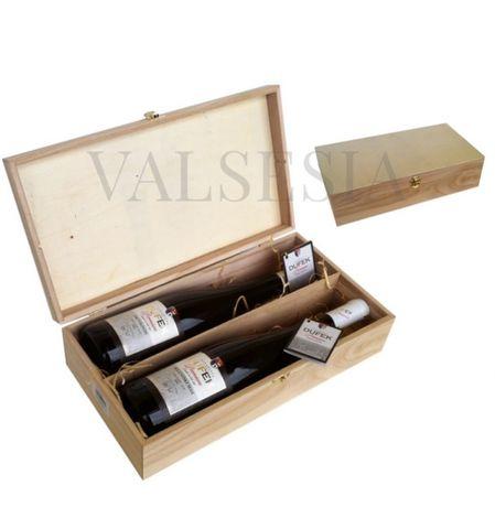 Dřevěná dárková kazeta na 2 lahve