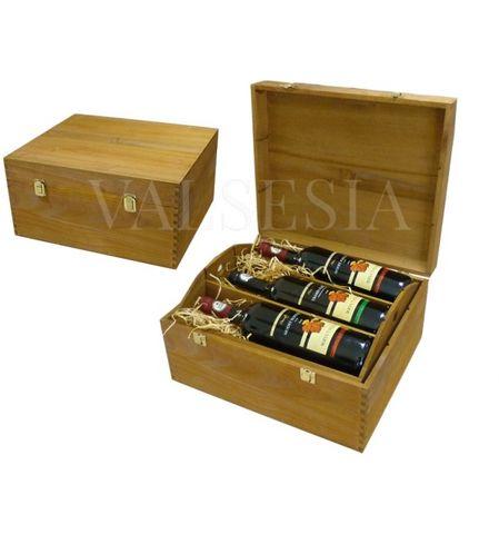 Dřevěná dárková kazeta na 6 lahví