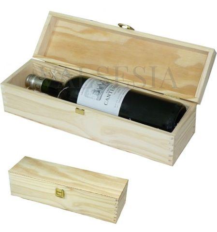 Dřevěný dárkový obal na víno 1 x 0.75l