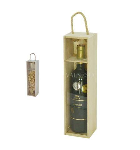 Nosič na 1 láhev vína - prosklený