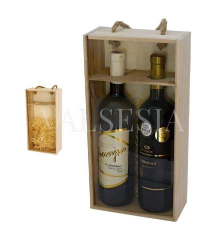 Nosič na 2 láhve vína - prosklený