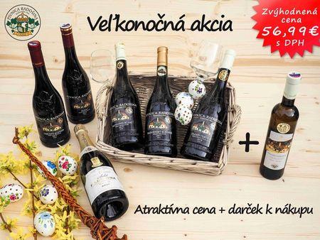 Velikonoční akciový balík vín Radošina 6 + 1 dárek k nákupu