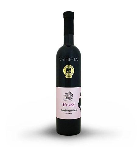 Víno z černého rybízu, značkové víno, 0,75 l